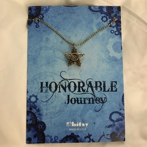 """Steampunk Necklace Pendant """"Honorable Journey"""""""